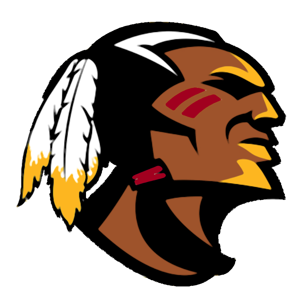 Mohawk vector silhouette. Chief clipart football pencil
