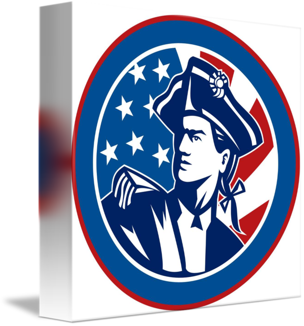 American revolution clipart blue soldier. Revolutionary with stars and