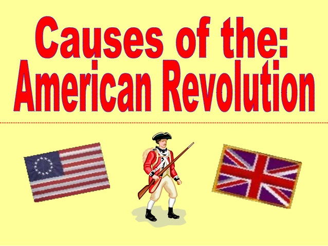 American revolution clipart radical. Causes of the us