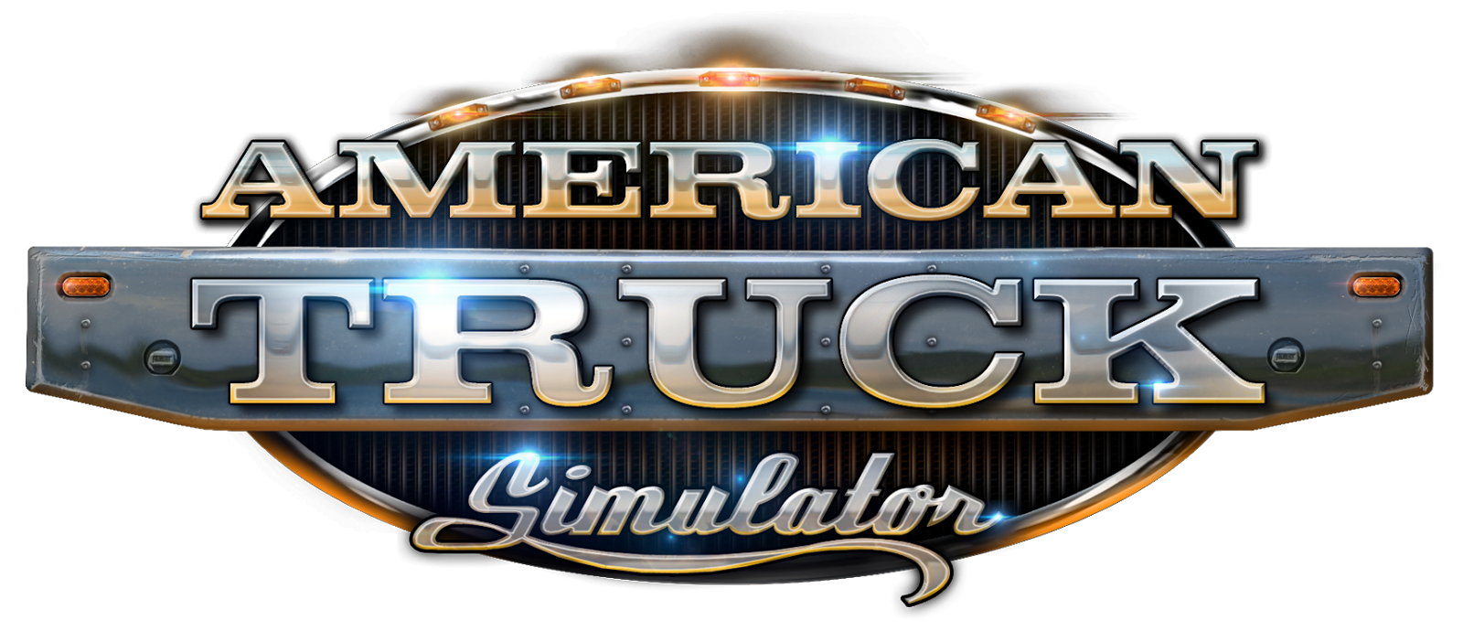 American truck simulator logo png. East bound and down