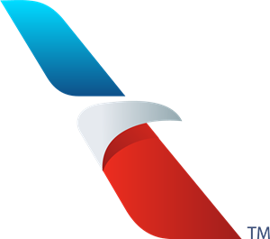 American vector ribbon. Airlines logo eps free