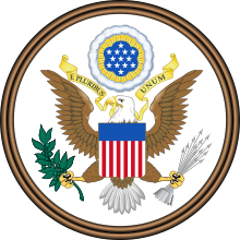 American vector eagle crest. Great seal of the