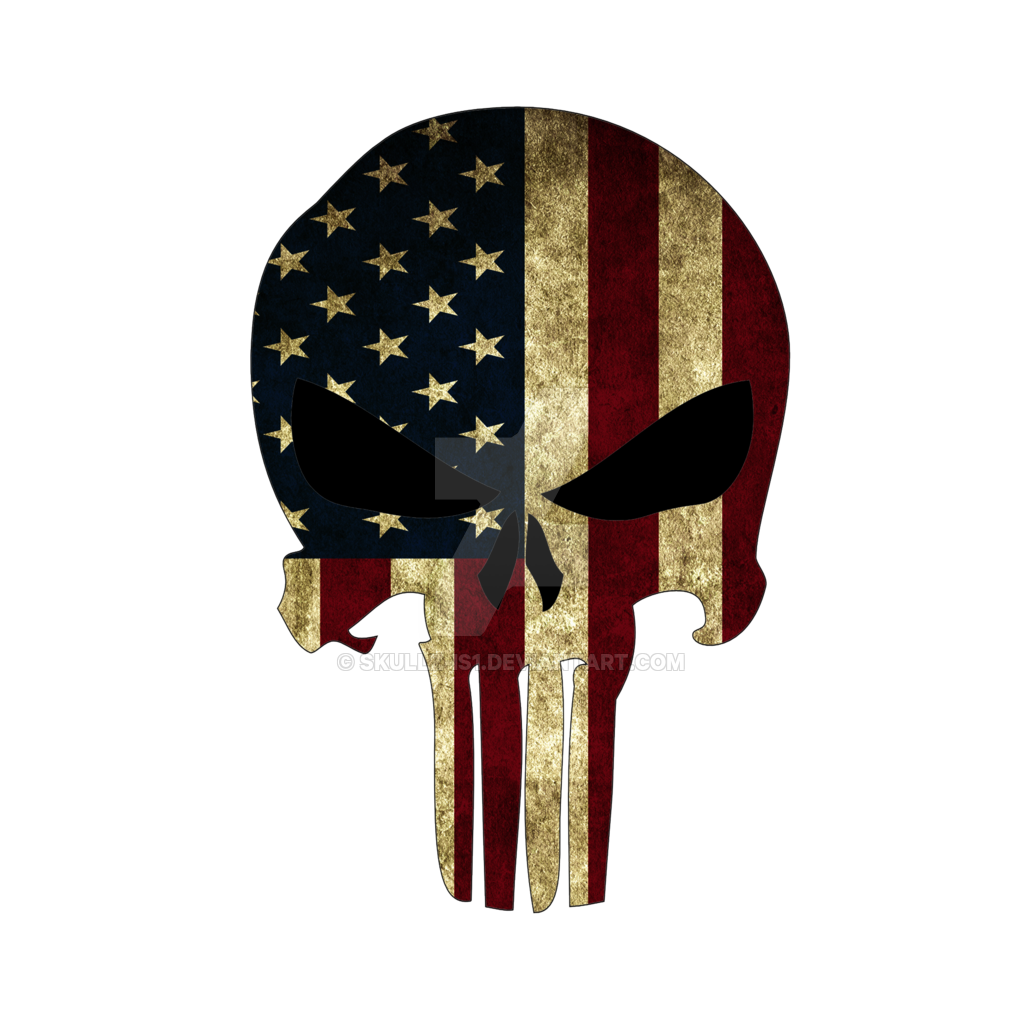 American vector punisher. Png logo free transparent