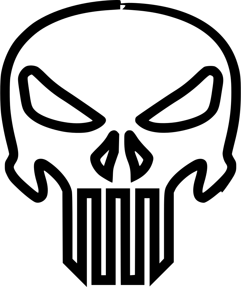 American vector punisher. The svg png icon