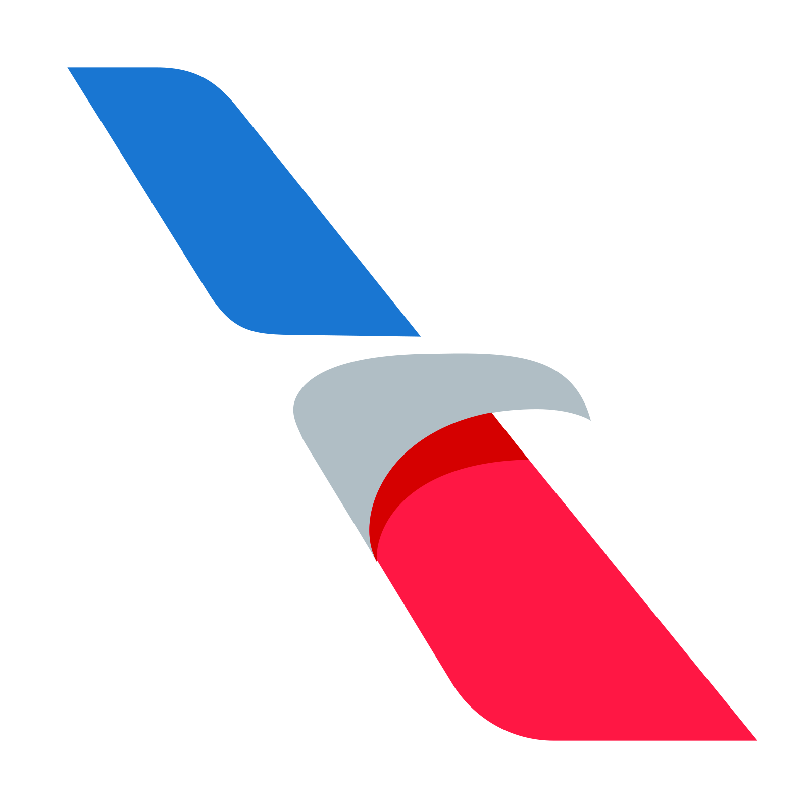 American vector shape. Airlines icon free download
