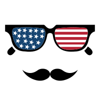 American vector sunglasses. Flag free svg gallery