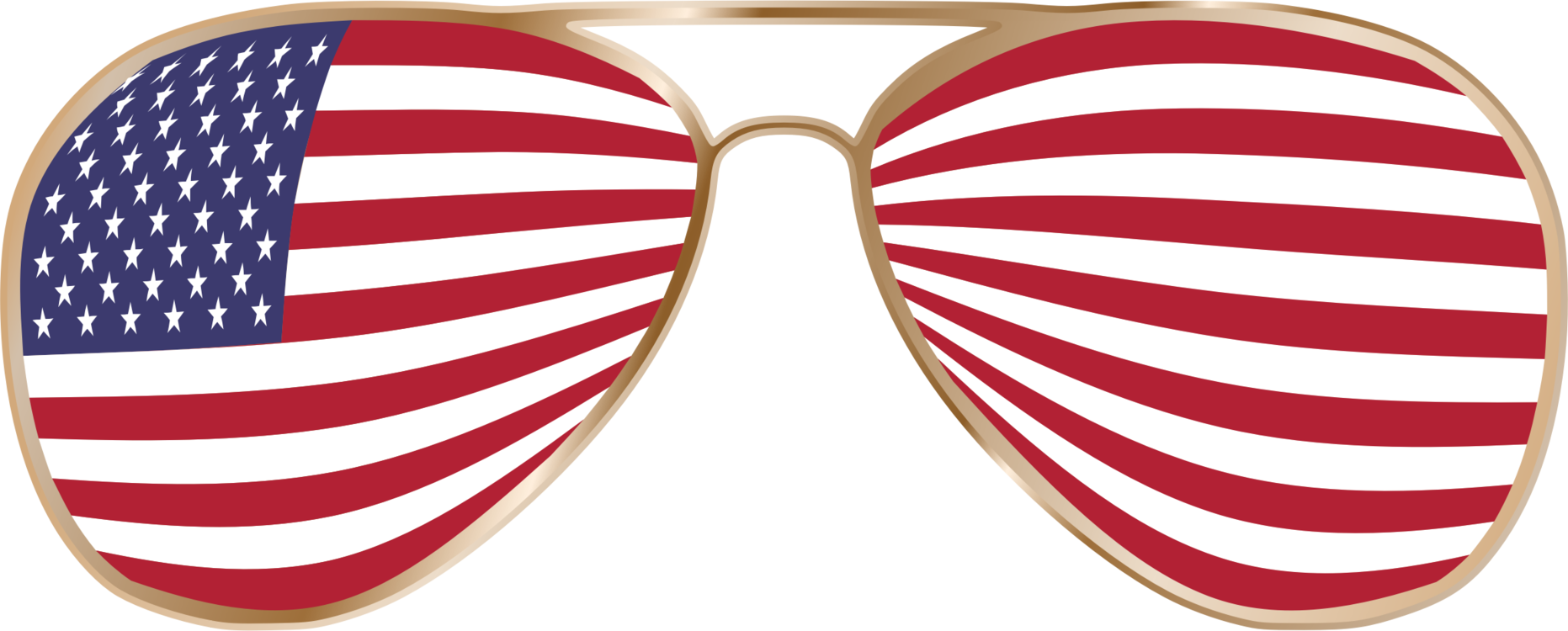 American vector sunglasses. Goggles united states of