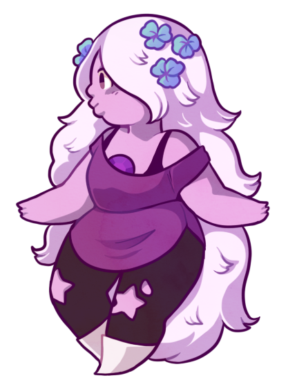 Amethyst transparent happy