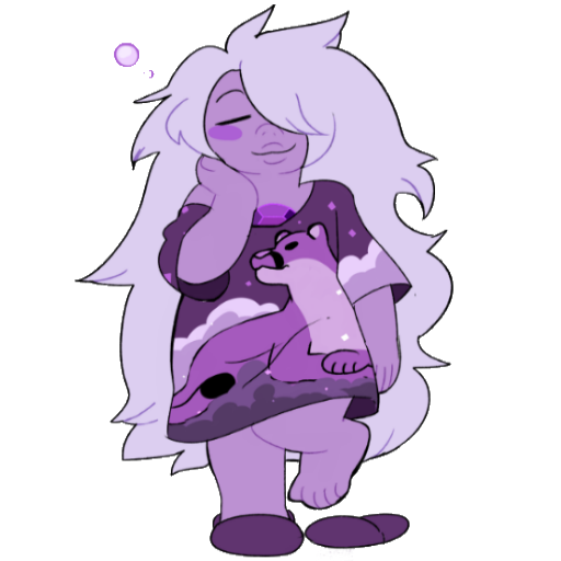 amethyst transparent sleepy