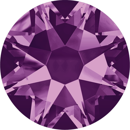 Amethyst transparent background. F swarovski crystal xirius