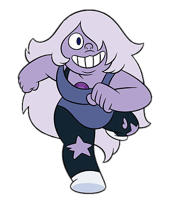 Amethyst transparent drawing. Running png stickpng