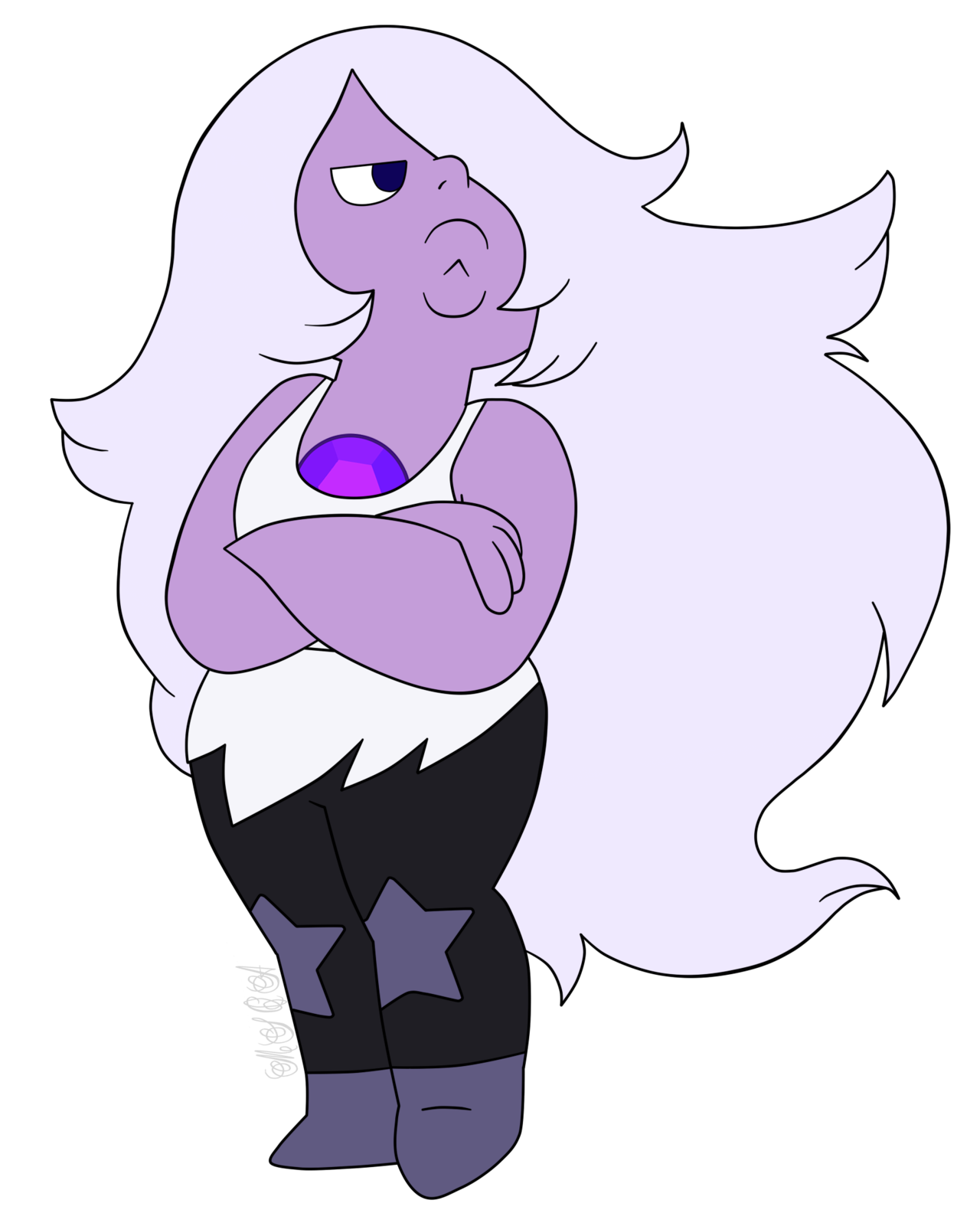 Amethyst transparent pearl. Steven universe attack the
