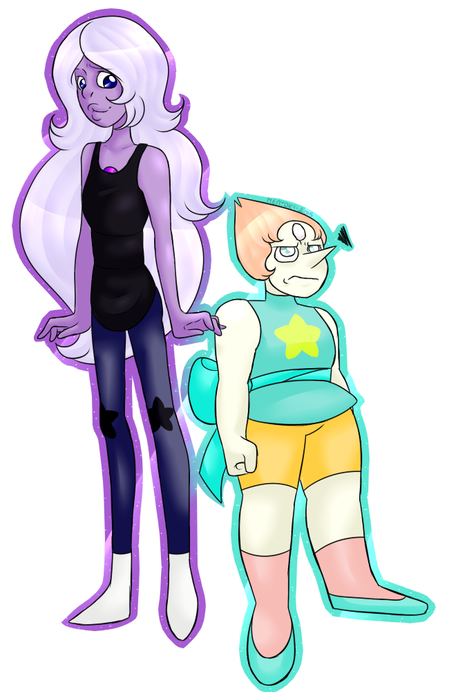 Amethyst transparent pearl. Body swap and by