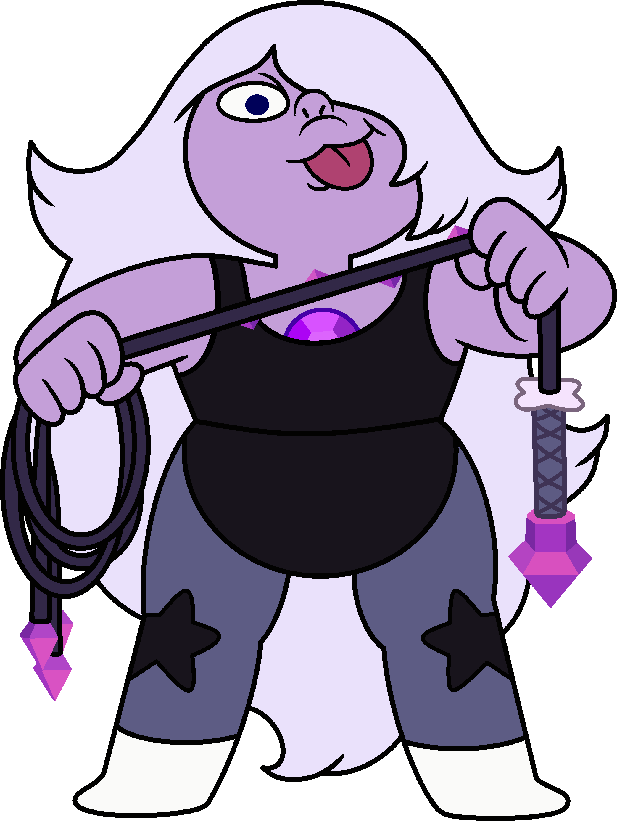 Amethyst transparent reference. From steven universe dream