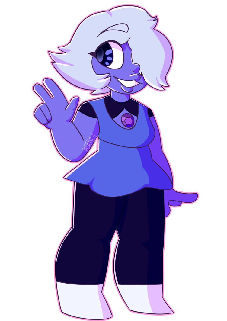 Amethyst transparent short hair. But with shorter by