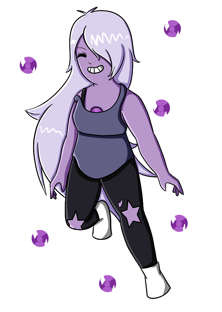 Amethyst transparent sketches. Gif by creature on