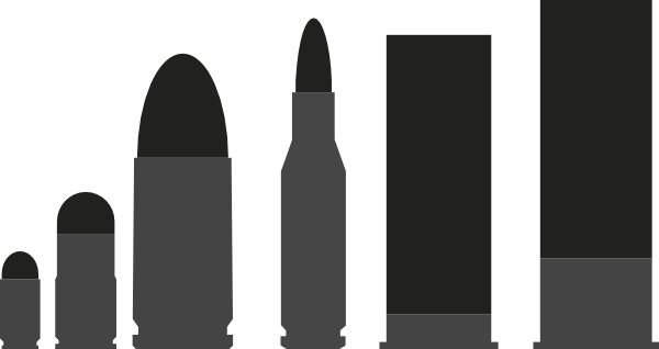 Ammo vector. Bullet clip art at