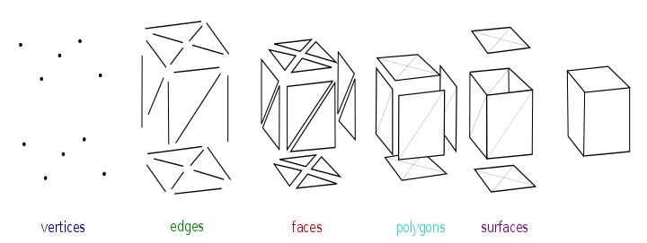 Amp vector mesh. Polygon wikipedia elements of