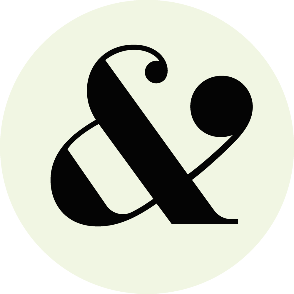 Ampersand logo png. Design alex wilking the