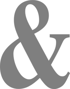 Fancy ampersand png. Gray sign clipart views