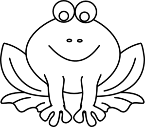 Amphibian drawing black and white. Frog outline clip art