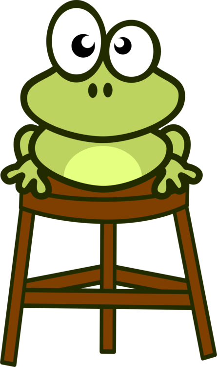 Amphibian drawing bullfrog. American edible frog cartoon