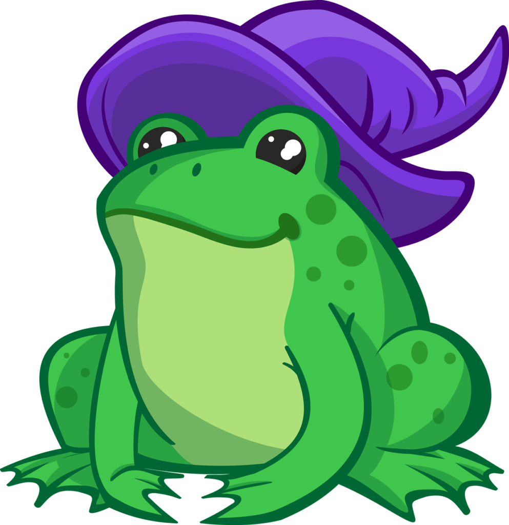 Amphibian drawing bullfrog. Frogs clipart cute borders