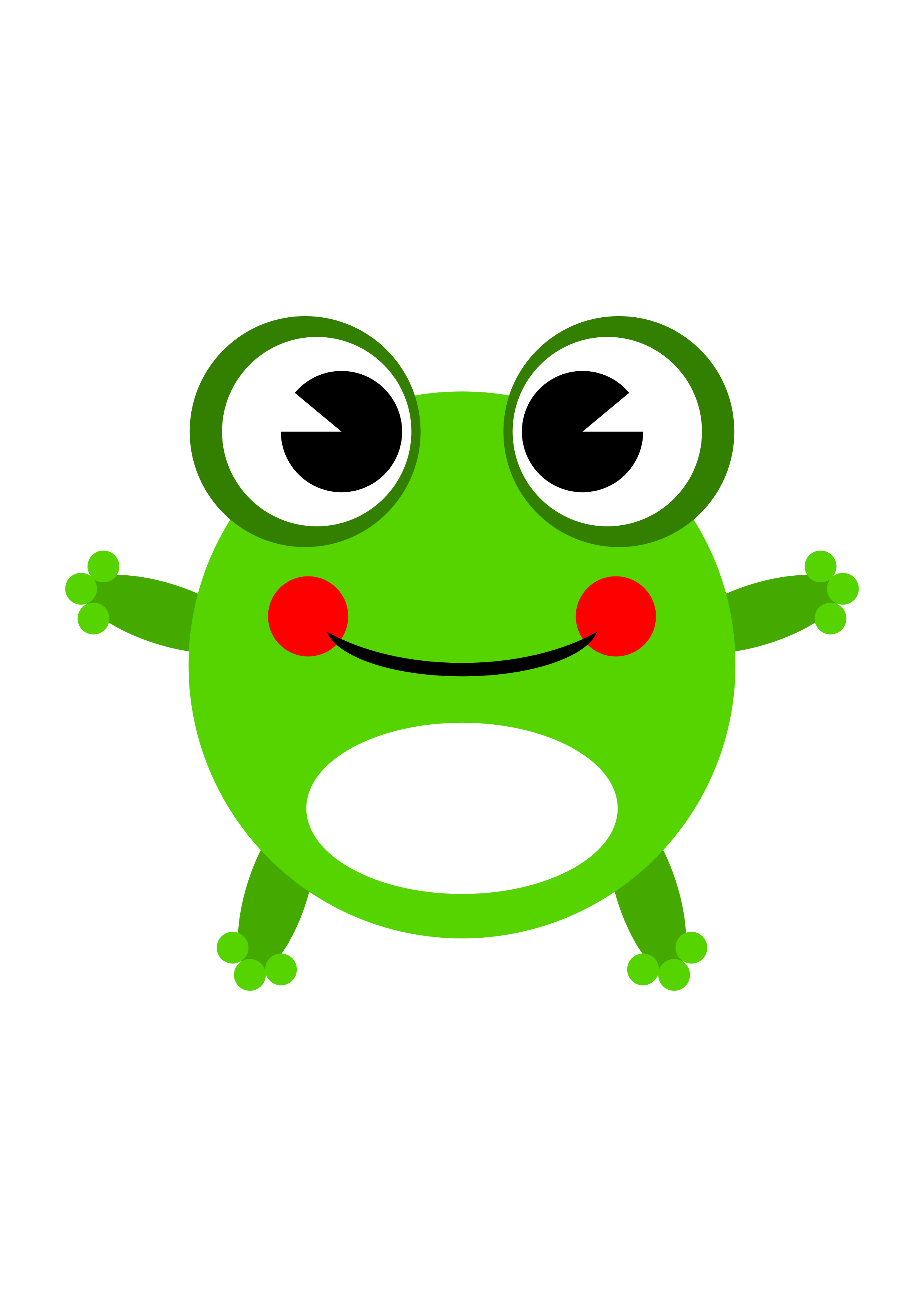 Drawing frogs tree frog. Clipart