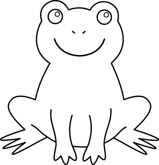 Amphibian drawing coloring page. Black and white frog