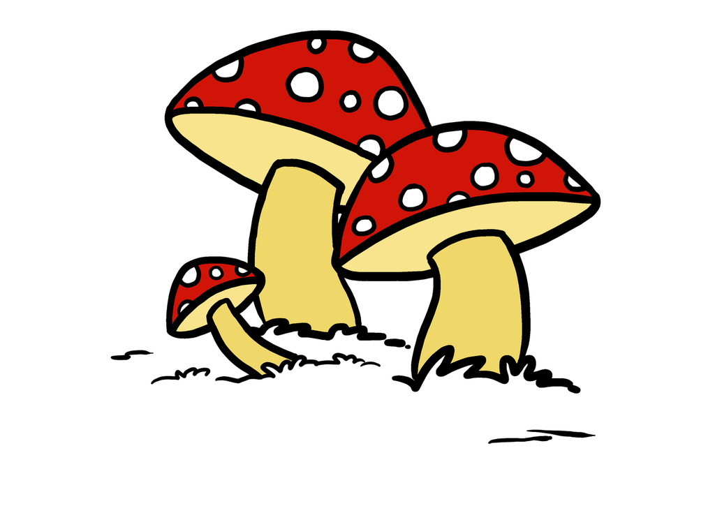 Drawing shrooms basic. Easy guides on twitter