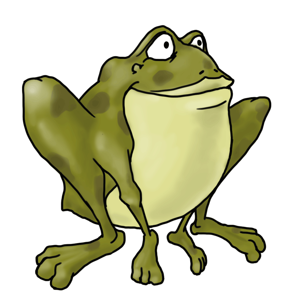 Frogs drawing hand drawn. How to draw cartoon
