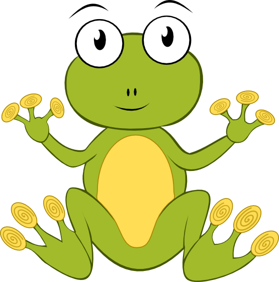 Amphibian drawing froggy. Collection of free amphibia