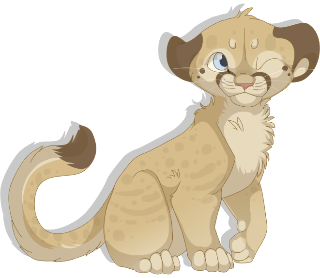 Amphibian drawing lion cub. Mountain by mbpanther on