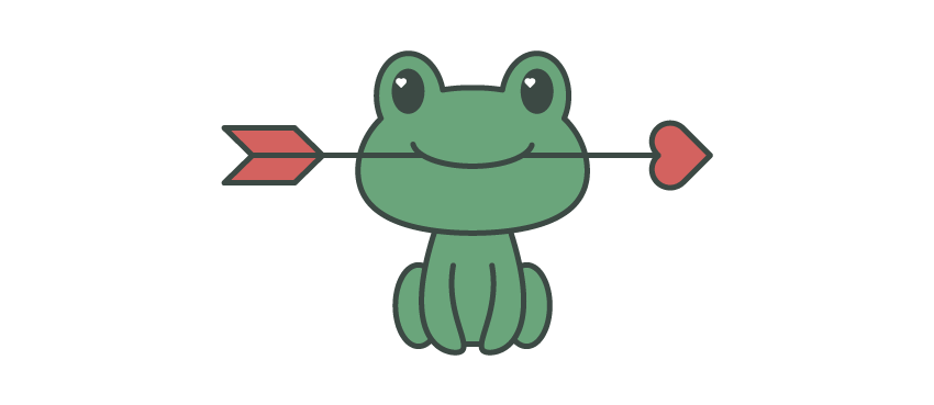 Frogs drawing crown. How to create a
