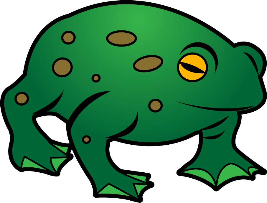 Amphibians drawing toad. Collection of free amphibiums