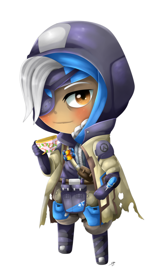 Ana png overwatch. Chibi by shinyhunterf on