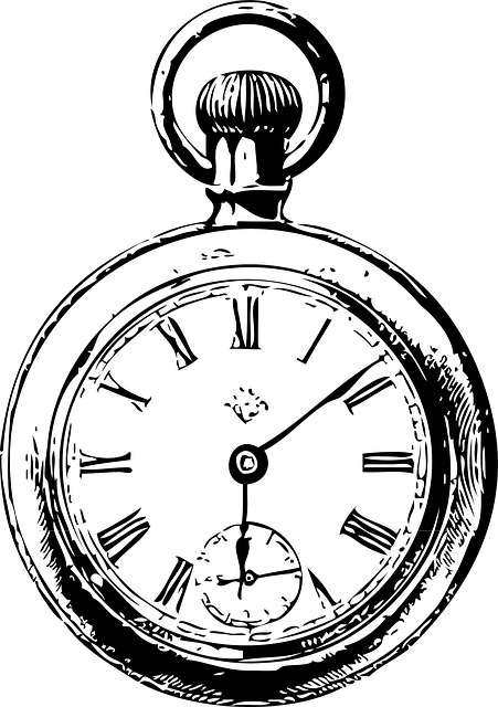 Stopwatch transparent vintage. Simple clock drawing at