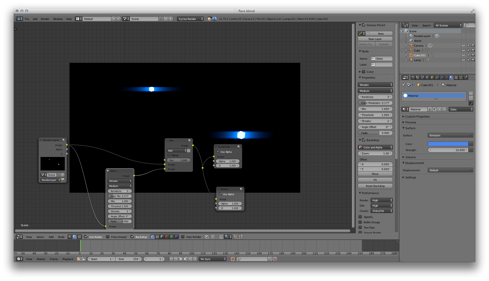 Anamorphic lens flare png. In blender bi how
