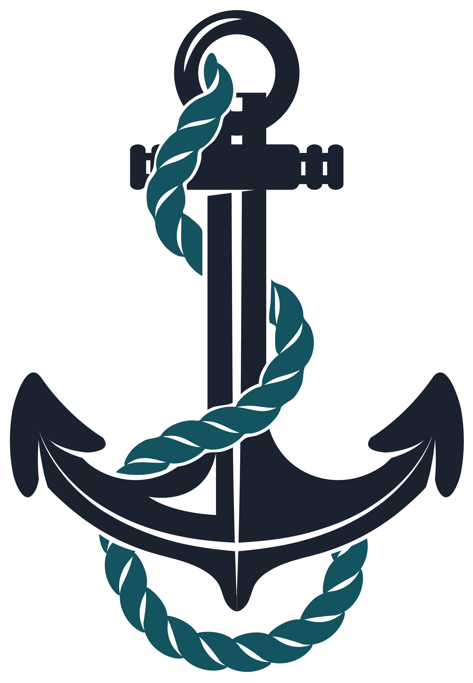 Anchor clip art png. Hand painted black rope