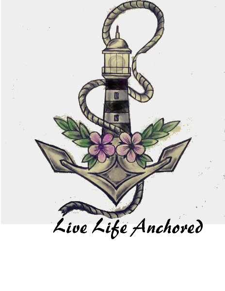 Anchor clipart anchored. Lighthouse tattoo live life