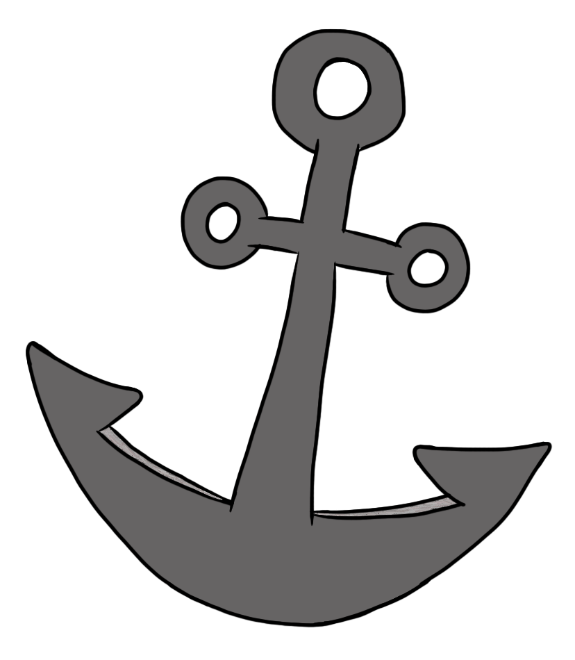 Anchor clipart basic. Simple pirate