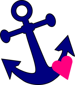 Anchor clipart chain clipart. With heart