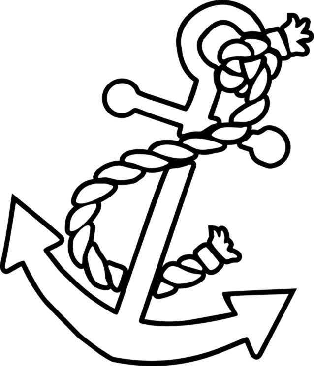 Anchor clipart colored. Free color pages anchors