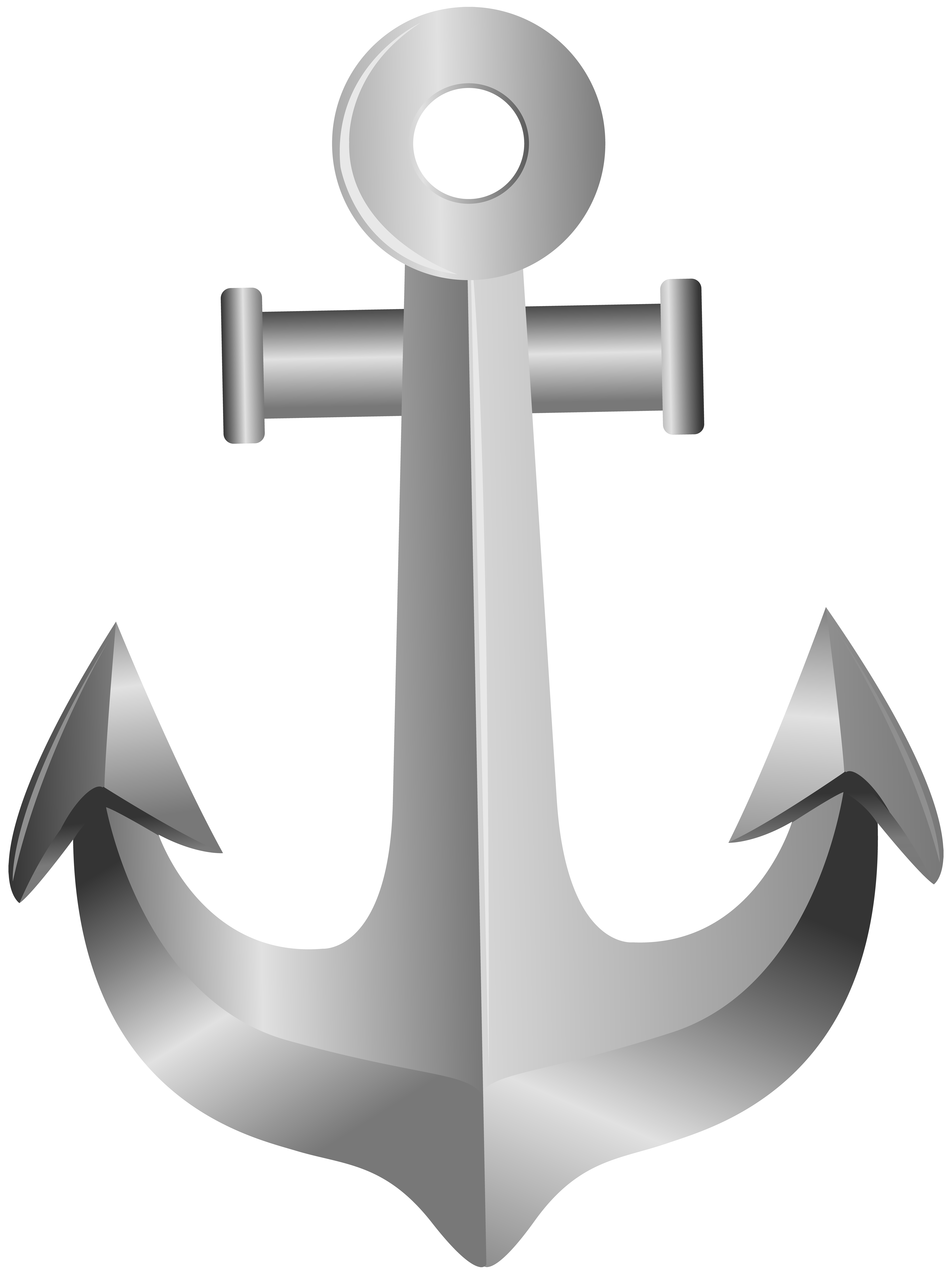 Anchor clipart png. Silver clip art gallery
