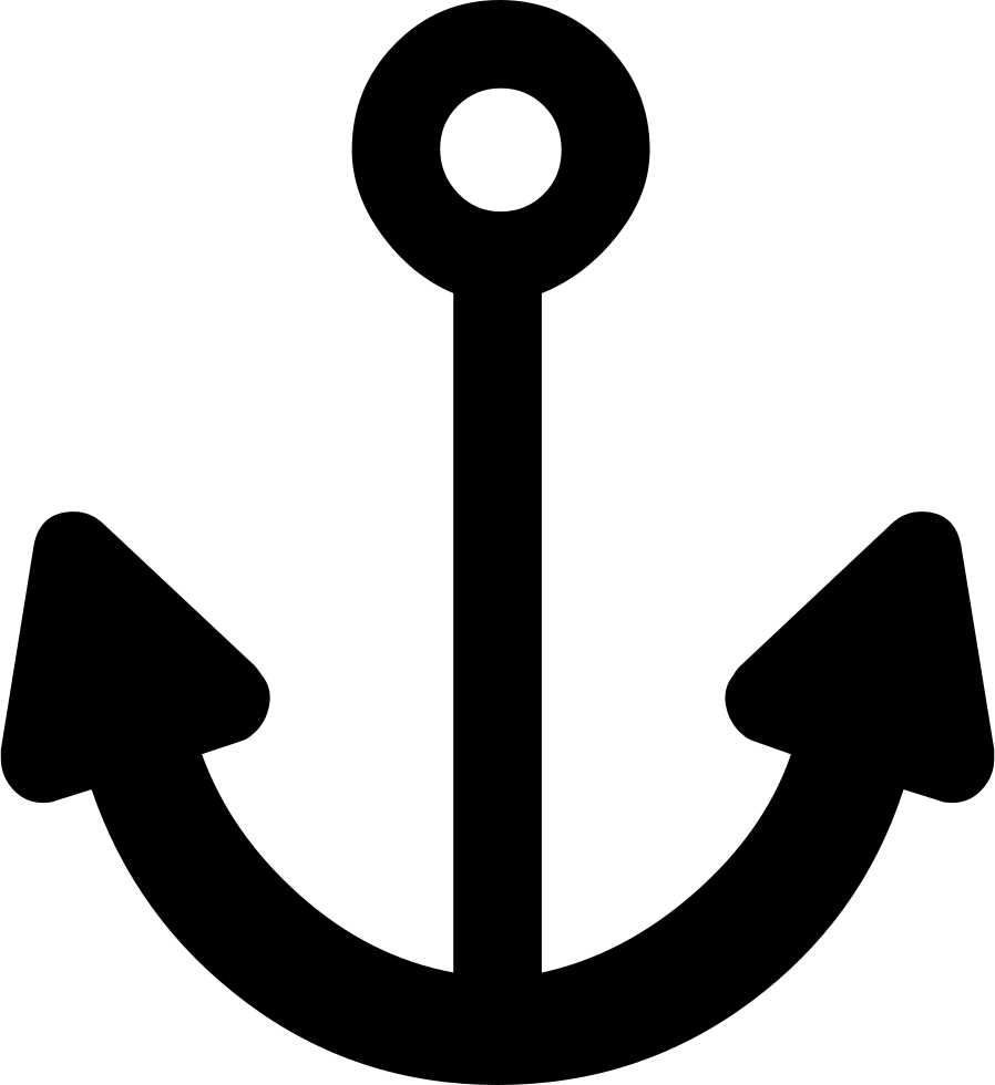 Anchor silhouette png. Svg icon free download