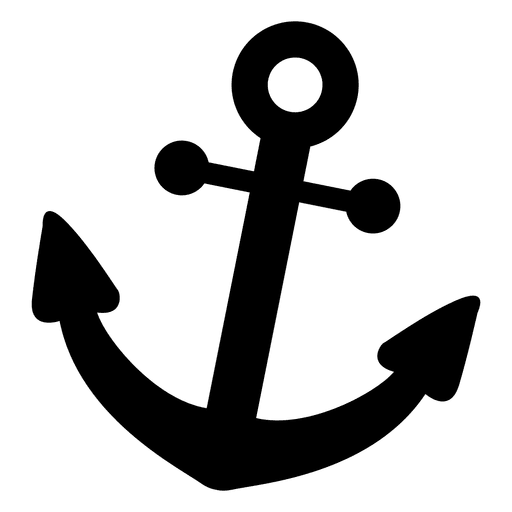 Anchor with banner png. Flat icon transparent svg