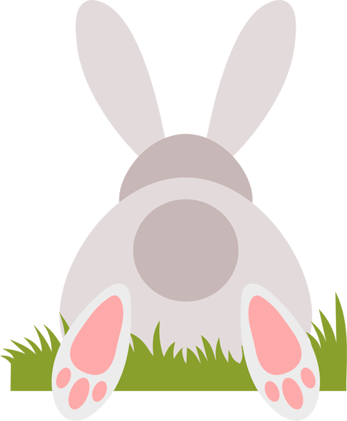 And svg bunny. Behind