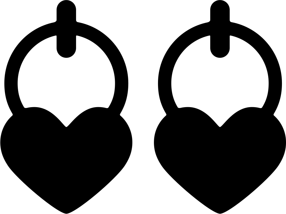 And svg earring. Heart shaped earrings png