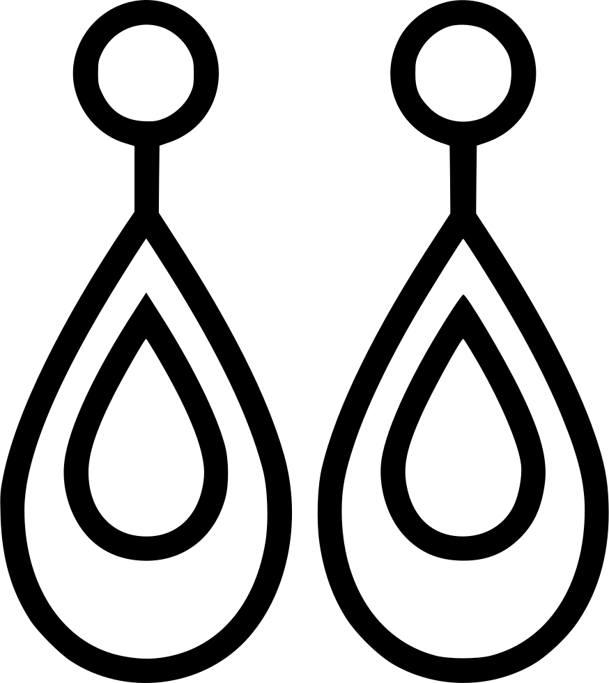 And svg earring. Accessory fashion jewelry png