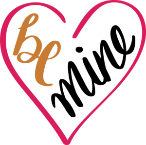 And svg heart. Be mine by ompay